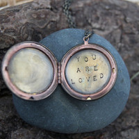 you are loved . a (whispered) soul mantra locket