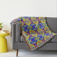 Colorful Cheerful Pattern Throw