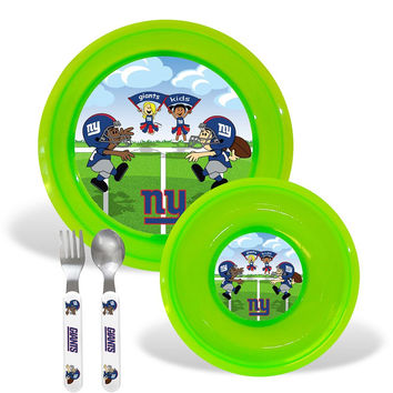 New York Giants NFL BPA Free Toddler Dining Set (4 Piece)