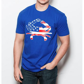 American Flag Crab (Royal Blue) / Shirt