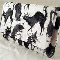Alexander Henry Crazy Black Cats Clutch
