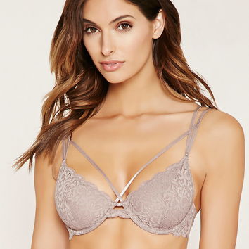 Strappy Scalloped Lace Bra