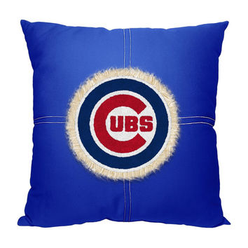 Chicago Cubs MLB Team Letterman Pillow (18x18)
