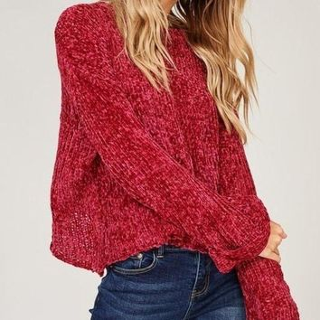 Rudolph Chenille Knit Sweater -