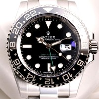 MENS STAINLESS BLACK BEZEL ROLEX GMT MASTER II 116710LN 2016 YR W/ BOX/PAPERS