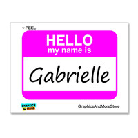 Gabrielle Hello My Name Is Sticker