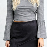 Sweet Talk Black Suede Skirt