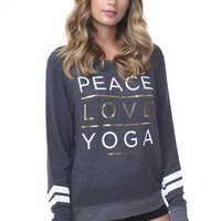 Peace Love Yoga Stacked Savasana Spruce