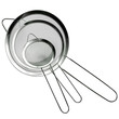 Evelots Set Of 3 Stainless Steel Mesh Strainers For Kitchen Food Rice Pasta