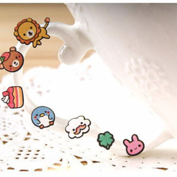 Kawaii Animal/Cake/Rainbow Stickers