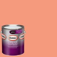Glidden DUO 1-gal. #GLO07-01S Tropical Coral Semi-Gloss Interior Paint with Primer-GLO07-01S at The Home Depot