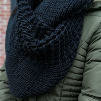French Countryside Scarf - Black
