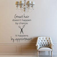 Hair Salon Decor - Salon Decor - Hair Salon - Salon Sign - Salon Decal - Wall Decals - Home Decor - Decals - Vinyl Decals - Wall Decal