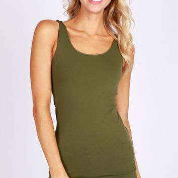 One & Only Solid Tank Dark Olive
