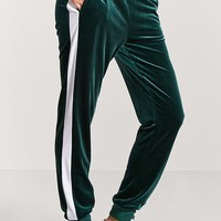 Velvet Side Stripe Joggers