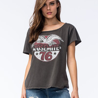 Midnight Rider Yosemite Womens Tee Black