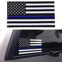 Thin Blue Line Car Decal