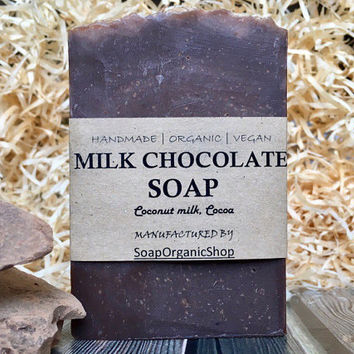 Chocolate soap Coconut soap Natural soap Chocolate Natural soap Natural Bath Products Shea soap Vegan Soap with milk Gift for her Women soap