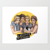 5 seconds of summer Art Print by Laia™