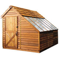 Shop Cedarshed Sunhouse Lean-to Cedar Wood Storage Shed (Common: 8-ft x 8-ft; Interior Dimensions: 7.33-ft x 7-ft) at Lowe's