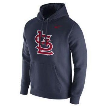 St Louis Cardinals Nike MLB Navy Fastball Fleece Pullover Hoodie