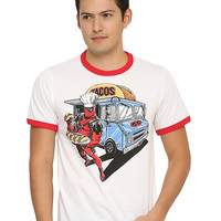 Marvel Deadpool Taco Truck Ringer T-Shirt