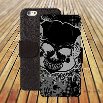 iphone 6 case science fiction skull iphone 4/4s iphone 5 5C 5S iPhone 6 Plus iphone 5C Wallet Case,iPhone 5 Case,Cover,Cases colorful pattern L472