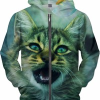Cat and Fish Hoodie