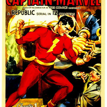 Adventures of Captain Marvel 11x17 Movie Poster (1941)