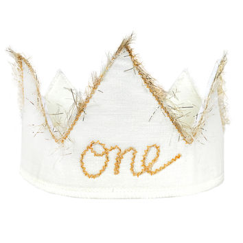 """One"" Birthday Crown"