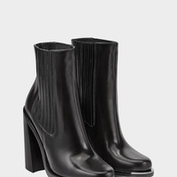 Stacked High Heel Ankle Boot