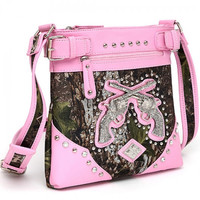 * CAMO GUN MESSENGER-BAG IN PINK