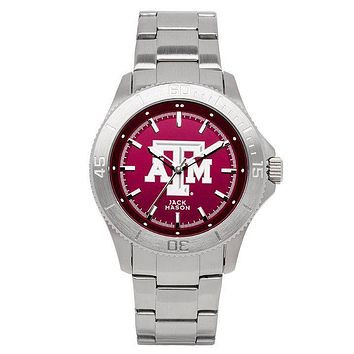 Texas A&M Aggies Sport Bracelet Team Color Dial Watch by Jack Mason