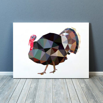 Turkey poster Bird print Wall decor Geometric art TOA76