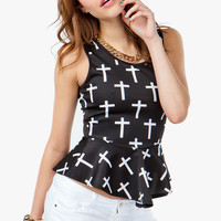 A'GACI All Over Cross Peplum - New Arrivals