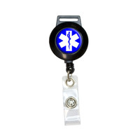 Star of Life - Medical Health EMT RN MD Retractable Badge Card ID Holder