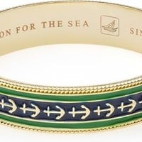 Sperry Top-Sider Enamel Anchor Bangle Gold/GreenAnchor, Size One Size  Women's