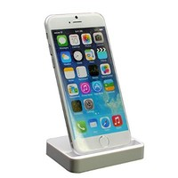 MOTONG Desktop Charging Dock Stand Station Charger For Apple iPhone 6/6 Plus/5S/5/5C-White