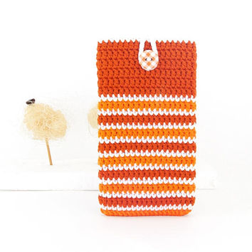 Orange rug Huawei P10 bag, Samsung S8 phone cover, vegan Moto G5 sock, LG K10 pouch, Samsung J5 case, eco HTC U Play sleeve, iPhone 6s cozy