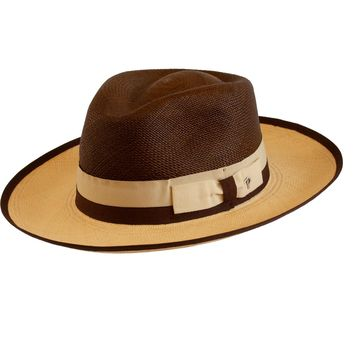 Martin Two-Tone Panama Fedora by Panizza