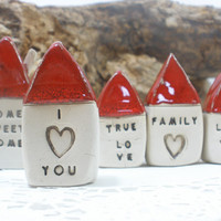 Message houses Miniature houses  Little rustic by orlydesign