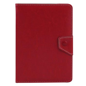 "Universal Leather Folding Folio Case Cover for Android PC 7 8 10"" Inch Tab Red"