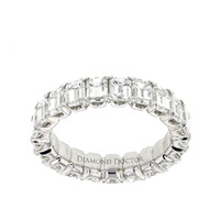 - Diamond-Engagement-Rings-Dallas - 5.5 Carat Emerald Diamond Eternity Band Dallas