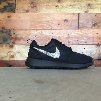 Nike Roshe One Customized by Glitter Kicks - BLACK WHITE acb73aa03fa0