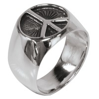 Vintage Etchted Peace Ring