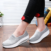 2017 Rainbow Summer Casual Woman Stretch Fabric Lightweight Walking Slip On Flats Soft Comfortable Espadrilles  Feminino