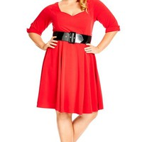 Plus Size Women's City Chic 'Miss Vintage' Fit & Flare Dress,