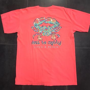 Anna Grace Crab Life's a Beach Comfort Color Tee