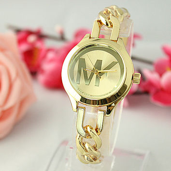 The big letter MK style diamond quartz watch [9437223175]