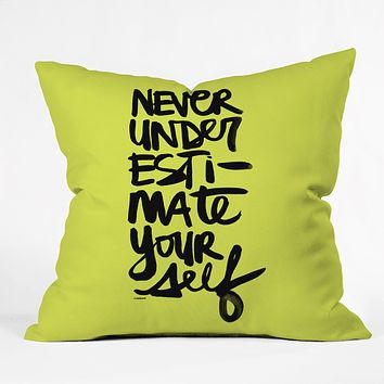 Kal Barteski Never Green Throw Pillow